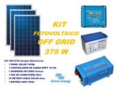 Kit Energía Solar Off Grid 375VA Full con Inversor Victron Energy
