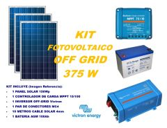 Kit Energía Solar Off Grid 375VA Full con Inversor Victron Energy