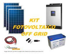 Kit Energía Solar Off Grid 5000W Full