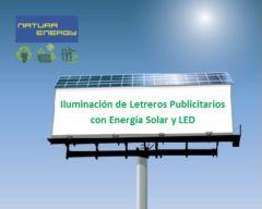 Kit Solar Iluminación Letrero Caminero o Gigantografía Publicitaria