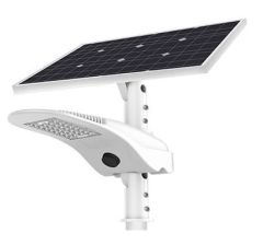 Luminaria Solar LED 80W 8000 Lm con Panel Ajustable