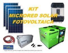 Kit Microred Solar Fotovoltaica 4000VA Full