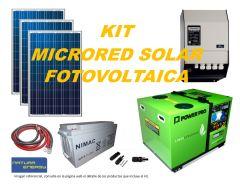 Kit Microred Solar Fotovoltaica 6000VA Full