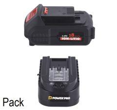 Pack Cargador + Batería Power Pro Ion-Litio 2.0 Ah 18V