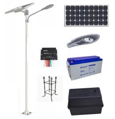 Kit Poste Solar 6 Metros 30W LED 12 Horas Zona Centro
