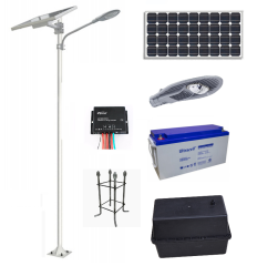 Poste Solar 6 Mts 60W LED 12 Hrs Zona Norte DS43