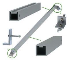 Soporte Ajustable 0-15° para Panel Solar