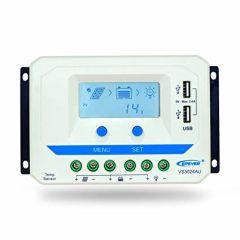 Controlador EPSolar 30A 12/24V y Pantalla LCD