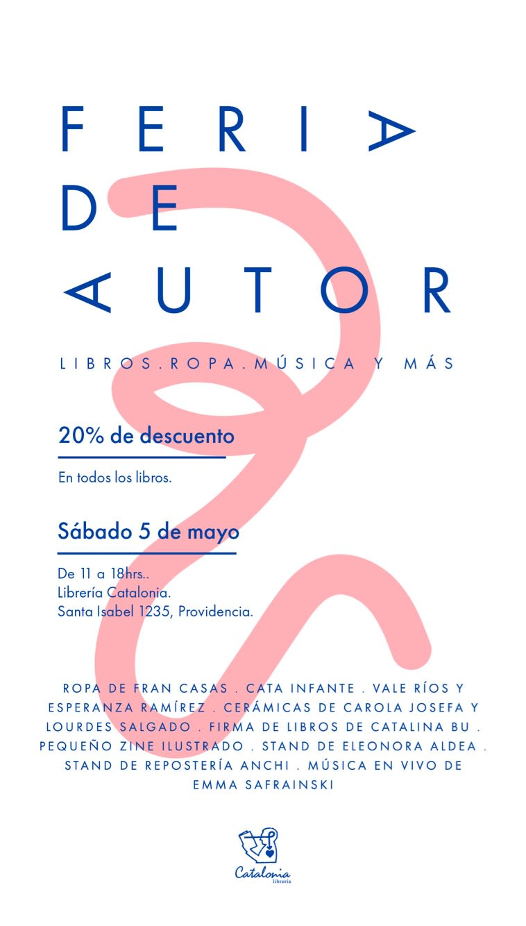Feria de autor sábado 5 de mayo