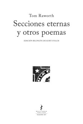 SECCIONES ETERNAS Y OTROS POEMAS1