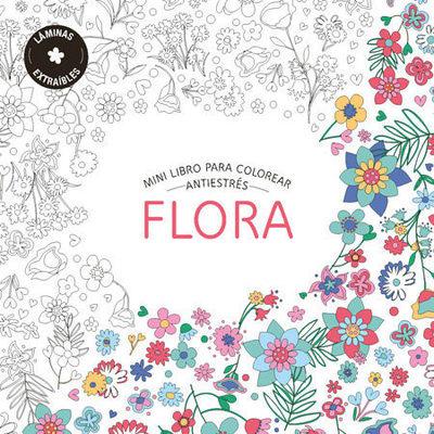 MINI LIBRO PARA COLOREAR: FLORA1