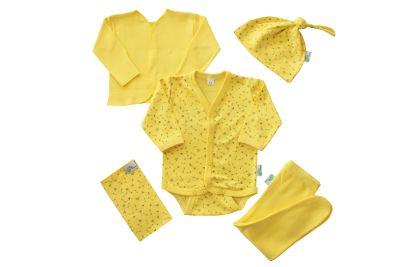 Ajuar 5 piezas Amarillo Estampado Flechas