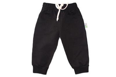 Pantalon Franela Negro Bebé