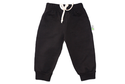 Pantalon Franela Negro Niñ@