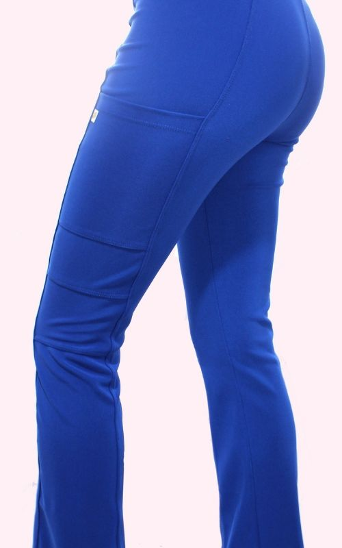 Pantalón Mujer Flex Pro M.Ot Liso Azul Rey