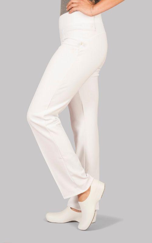 Pantalón Medico Clínico FLEX 100% Elasticado Blanco