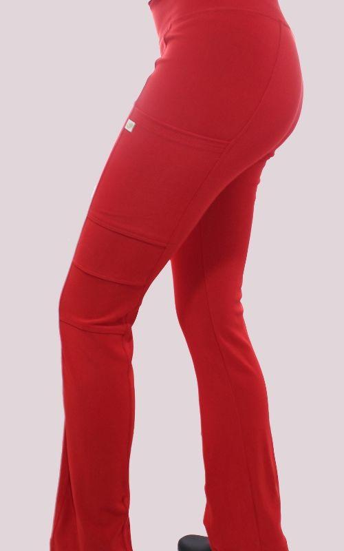 Pantalon Mujer Flex Pro M.O Liso Rojo