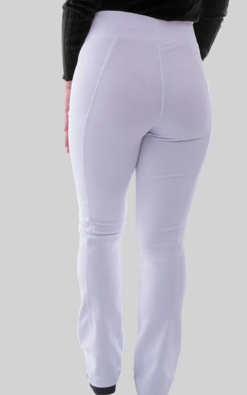 Pantalon Mujer Flex Pro M.O Liso Blanco