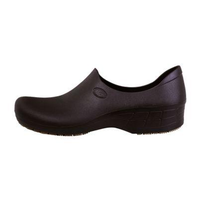 Zapato Zueco Antideslizante Cocina Clínico Negro