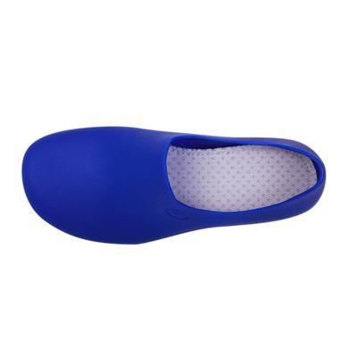 Zapato Zueco Antideslizante Cocina Clínico Azul Rey  (PRODUCTO SIN CAMBIO)