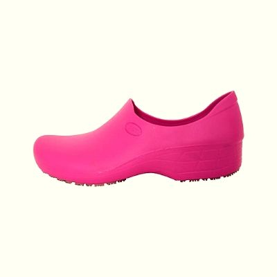 Zapato Zueco Antideslizante Cocina Clínico Fucsia  (PRODUCTO SIN CAMBIO)