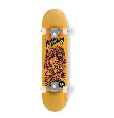 Skateboard completo Bowlpark Keep Pushing 8,0 Amarillo1