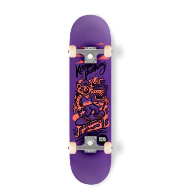Skateboard completo Bowlpark Keep Pushing 8,0 Morado1