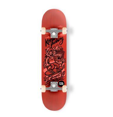 Skateboard completo Bowlpark Keep Pushing 8,0 Rojo1