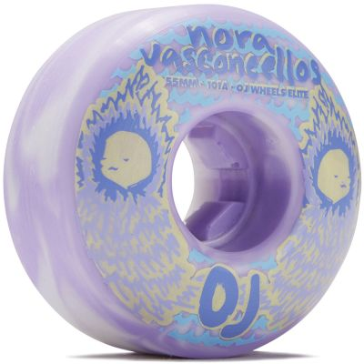 Ruedas OJ Nora Vasconcellos Elite Violet Swirl 101A 55MM Ez-Edge1