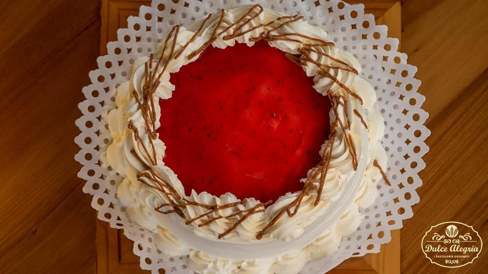 Torta Bizcocho Frambuesa Sin Azúcar