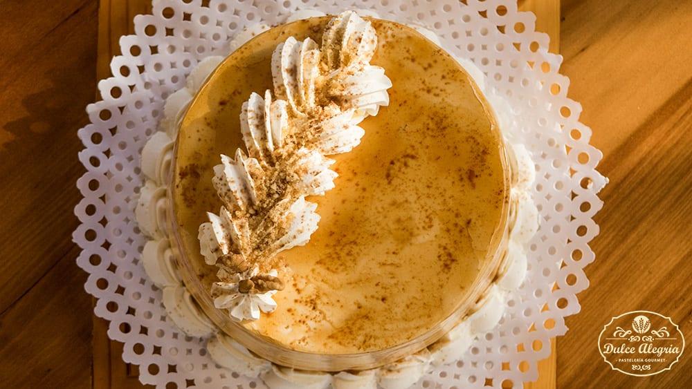 Torta Bizcocho Café Nuez Sin Azúcar