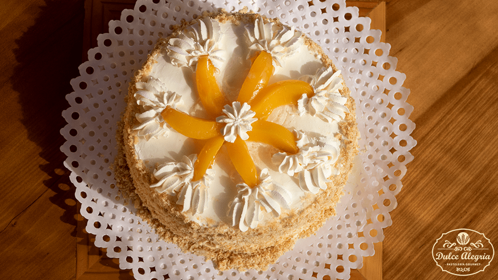 Torta Mil Hojas Manjar Durazno