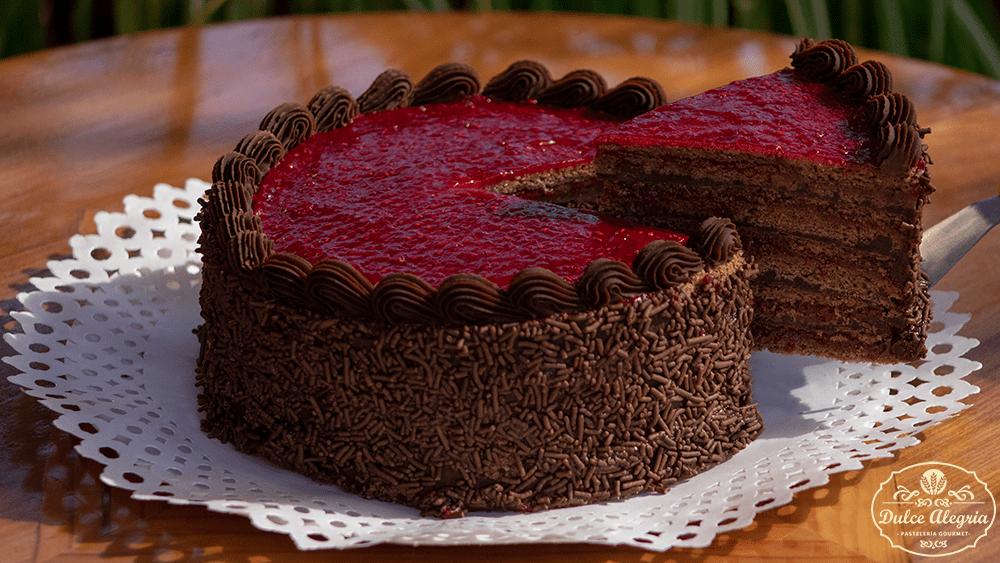 Torta Panqueque Frambuesa Chocolate