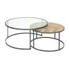 Set mesa de centro redonda