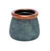 Vasija azul cobre L