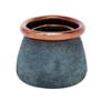 Vasija azul cobre S