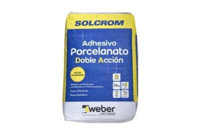 Adhesivo DA para porcelanato en polvo 25 kg SOLCROM