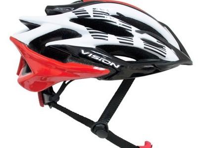 casco vision w178 blanco / negro / rojo adult unisize regul