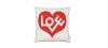 Cojín Love Heart Red1