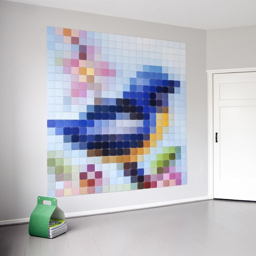 Afiche Pixel Patchwork Bird