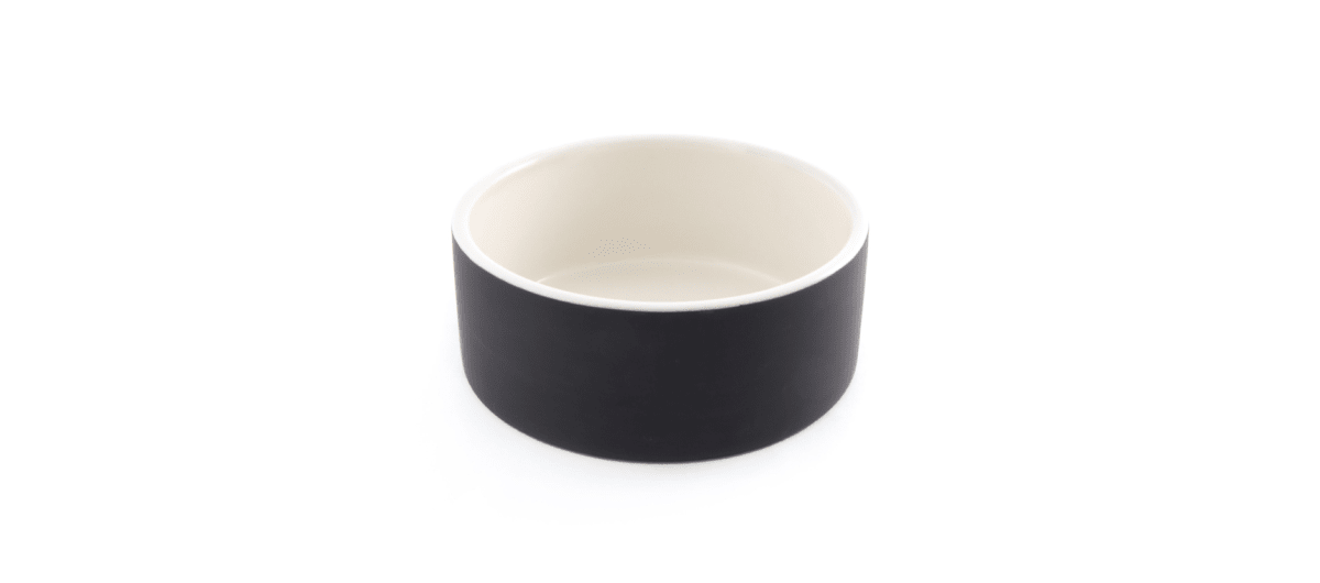 Plato de Agua para Mascotas - Grande Negro