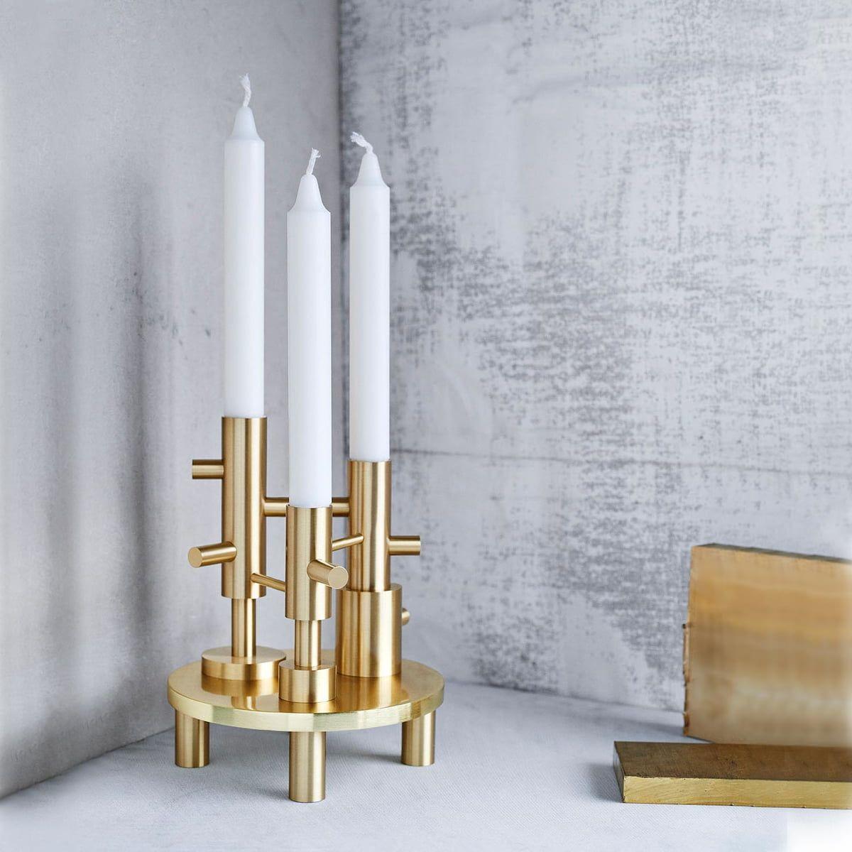Candelabro Triple Brass