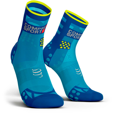 Calcetines COMPRESSPORT Pro Racing Socks RUN High Ultralight V3 azul