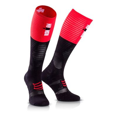 Full Socks Ultralight COMPRESSPORT Ironman 2017 rojo/negro