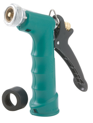 Insulated Grip Pistol Nozzle, Metal, Rea