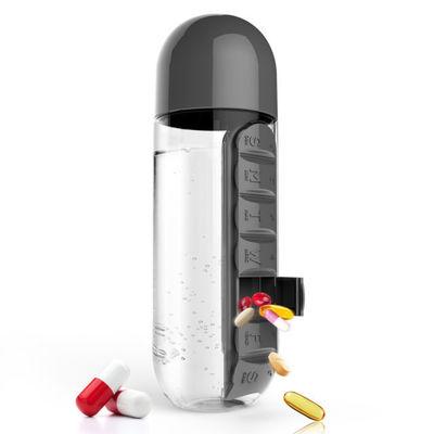 Botella de agua con dispensador de pastillas incorporado - Pill Organizer