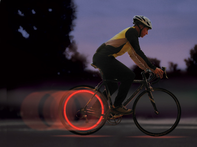 Luz LED Bicicletas Seguridad Ruedas Trasera Spoke Lit