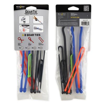 Pack 8un Gear Ties Amarras Organizadoras Cables Lazos Twisty