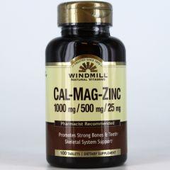 CALCIUM, MAGNESIUM & ZINC 100 TABS