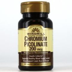 CHROMUIM PICOLINATE 200 MG 60 TABS